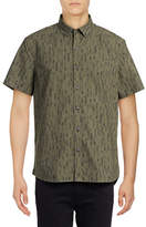 Michael Bastian Feather-Printed Woven Sport Shirt