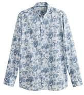 Slim-fit floral print shirt