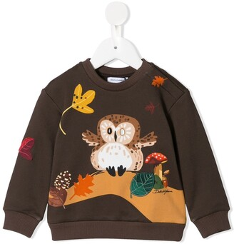 Dolce & Gabbana Kids Animal-Print Sweatshirt