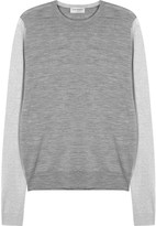 John Smedley Hindlow Grey Fine-knit Wool Jumper