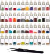 SHANY Cosmetics 3D Nail Art Decoration Mini Bottles with Tweezer, 48 Count