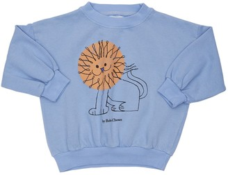 Bobo Choses Lion Print Organic Cotton Sweatshirt