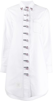 Thom Browne Military Style Shirt Dress