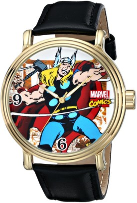 Marvel Men's W001767 The Avengers Thor Analog Quartz Black Watch