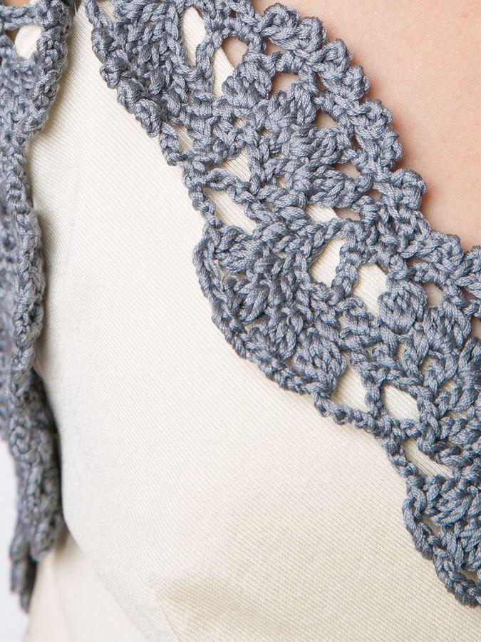 Vika Gazinskaya crochet detail top