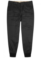 Moncler Black Tapered Twill Trousers