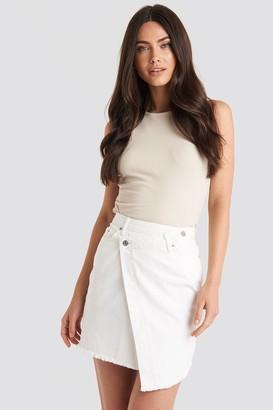 NA-KD Assymetric Closure Denim Skirt