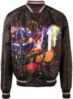 Lanvin Planet Scene print bomber jacket - men - Cotton/Polyamide/Polyester/Viscose - 48