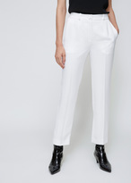 Lanvin White Cropped Straight Trouser