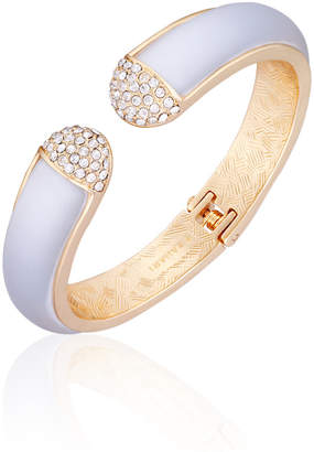 T Tahari Frosted Lucite Hinged Cuff