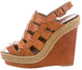 Christian Louboutin Leather Caged Wedges