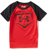 Under Armour Little Boys 2T-7 Home Plate Logo Color Block Tee
