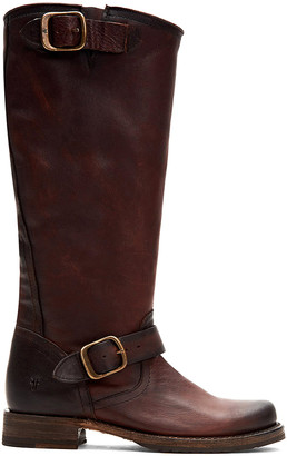 Frye Women's Casual boots - Dark Brown Veronica Slouch Leather Boot - Women