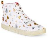 Sam Edelman Bella Glittered Heart High-Top Sneakers