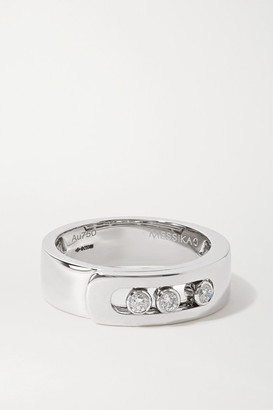 Messika Move Noa 18-karat White Gold Diamond Ring - 54