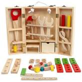 Yair Yangtze Wooden Tool Kits for Kids Play Carpentry Toy Workbench Set for Kids
