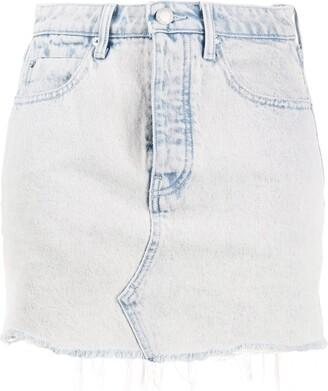 Alexander Wang Faded Denim Shorts