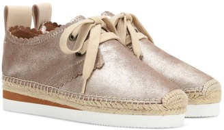 See By Chloã© Leather lace-up espadrilles