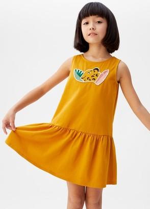 MANGO Embossed organic cotton dress
