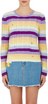 Marc Jacobs Women's Striped Cable-Knit Cashmere Sweater