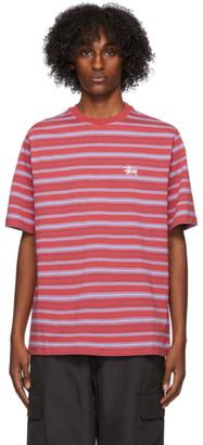 Stussy Red Heather Stripe T-Shirt