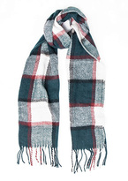 Missy Empire Carla Teal Checked Scarf