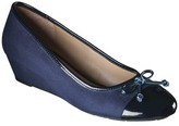 Merona Women's Minda Cap Toe Wedge Pump - Navy