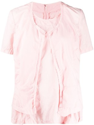 Comme des Garcons Layered Style Distressed Effect Blouse