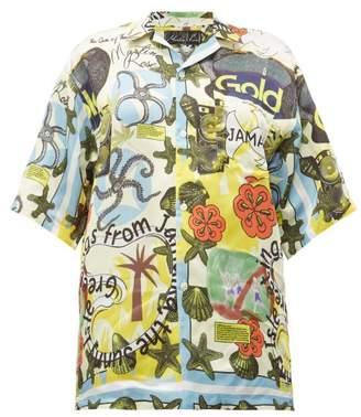 Martine Rose Jamaika Print Twill Shirt - Womens - Multi