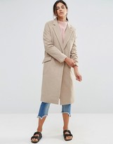 NATIVE YOUTH Longline Brushed Duster Coat