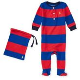 Ralph Lauren Striped Cotton Pajamas Starboard Red 6M
