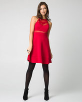 Le Château Scuba Knit Illusion Halter Dress