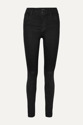 J Brand Ruby High-rise Slim-leg Jeans - Dark denim