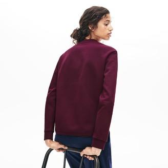 Lacoste Women's Crewneck 3D-Lettering Cotton Blend Fleece Sweatshirt