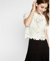 Express crocheted cropped shirt