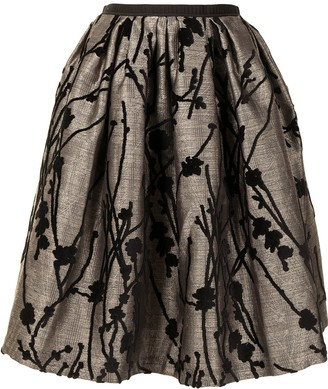 Antonio Marras Floral Embroidered Full Skirt