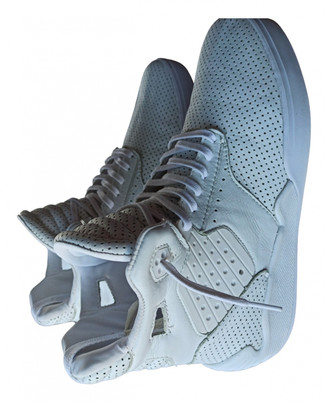 Supra White Leather Boots