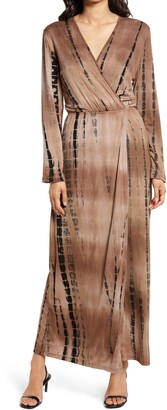 Fraiche by J Tie-Dye Long Sleeve Maxi Dress