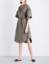 Tome Striped cotton-poplin tunic dress