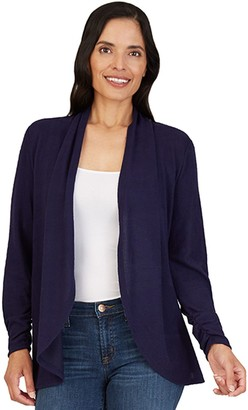 Apt. 9 Petite Ruched Open-Front Cardigan