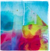 Avant Toi watercolour print scarf