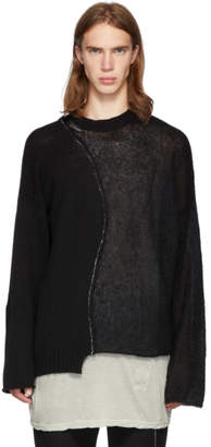 Isabel Benenato Black Alpaca and Mohair Different Body Sweater