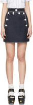 Stella McCartney Navy Buttoned Miniskirt