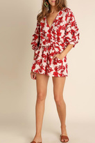 Umgee USA Red Floral Romper