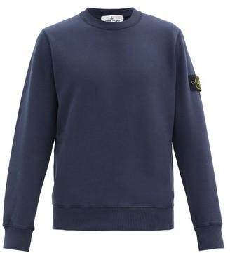 Stone Island Logo-patch Cotton-jersey Sweatshirt - Navy