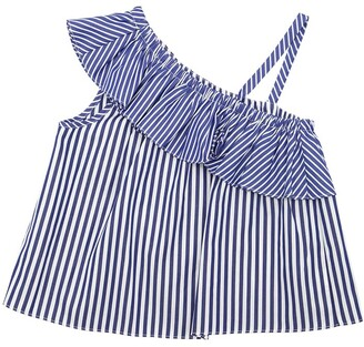 Milly Striped Cotton Poplin Top