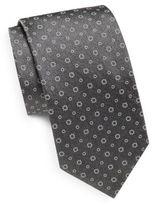 Saks Fifth Avenue Printed Italian Silk tie
