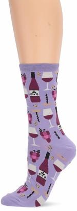 Hot Sox Women's Food and Booze Novelty Casual Crew Socks