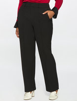 ELOQUII Plus Size Straight Leg Pintuck Trouser
