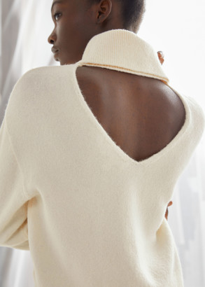And other stories Oversized Cut Out Turtleneck Sweater